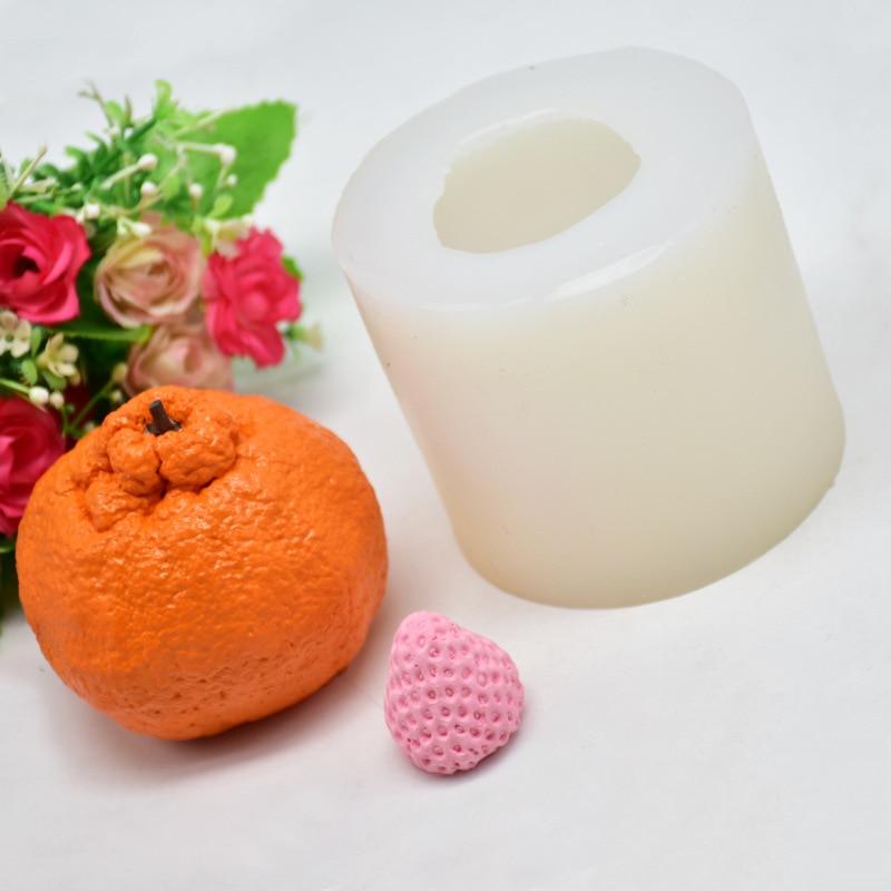 Orange Shape Candle Mold Silicone Soap Making Mould DIY Fondant Cake Decorating Tools Handmade Clay Craft Plaster Decoration
