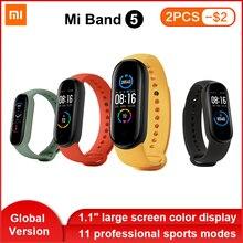 Global Version Xiaomi Mi Band 5 Smart Bracelet AMOLED Dynamic Color Display Bluetooth Sport Fitness Tracker Fitness Smartband