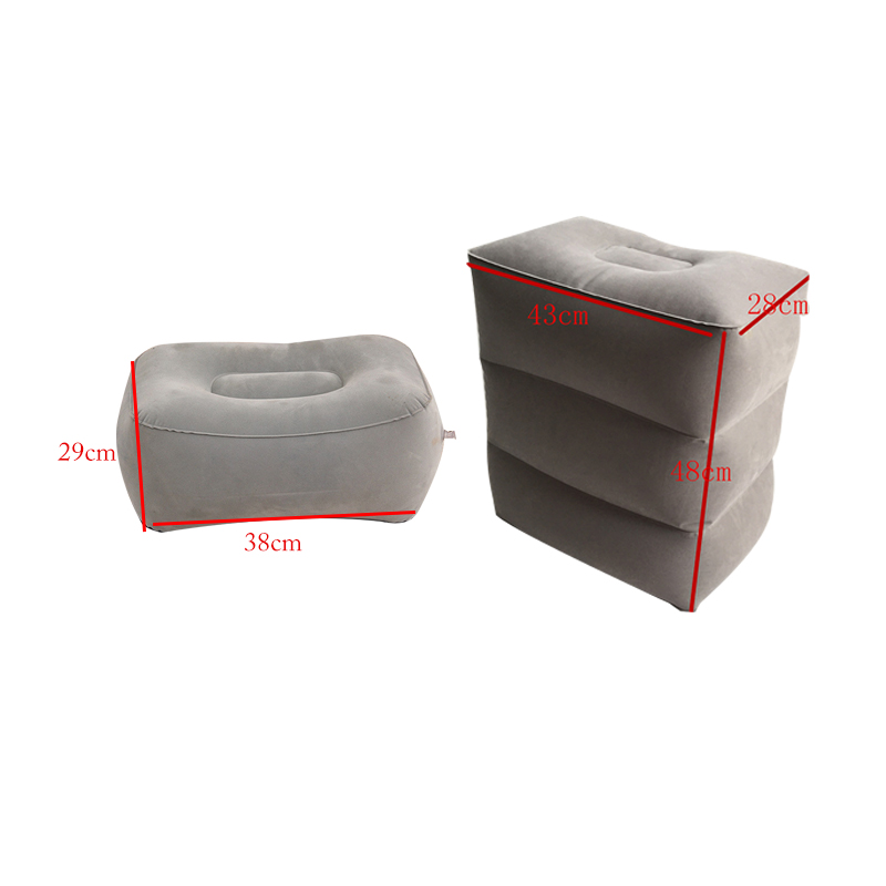 Image 5 - 3 Layers Inflatable Travel Foot Rest Pillow Airplane Train Car Foot Rest Cushion Like Storage Bag & Dust Cover Inflatable Pillow-in Decorative Pillows from Home & Garden