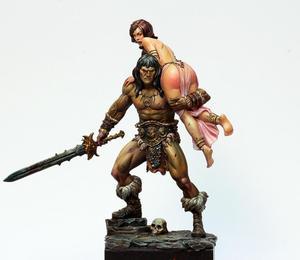 Image 1 - 1/24 75mm עתיק לוחם ואישה שרף איור דגם ערכות מיניאטורות gk Unassembly לא צבוע