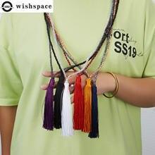 Wishspace цепочка с подвеской кисточкой кристаллами модное женское