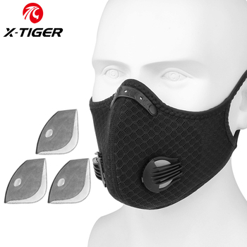 X-TIGER Cycling Face Mask PM 2.5 Bike Mask Activated Carbon Breathing Valve Sports Masks With Anti-Pollution Filter 18