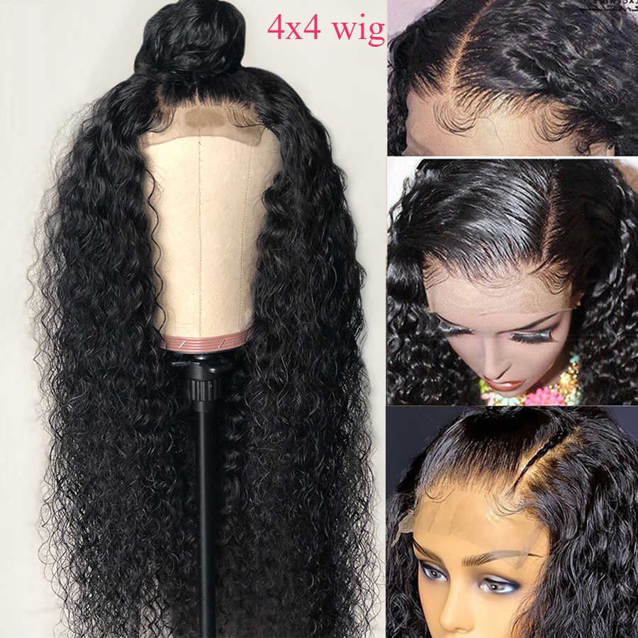 4x4 Closure Wig Curly Human Hair Wigs Lace Closure Human Hair Wigs GEM Peruvian Remy Pre Plucked Natural Lace Closure Wig