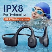 Cuffie a conduzione ossea YC IPX8 cuffie da immersione impermeabili per nuoto con microfono lettore MP3 8G incorporato per Xiaomi