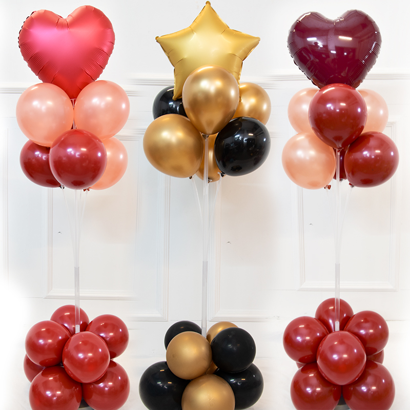 1set adjustable height balloons stand party decoration kids birthday balloon holder balloons <font><b>support</b></font> stand baloon <font><b>ballon</b></font> decor image