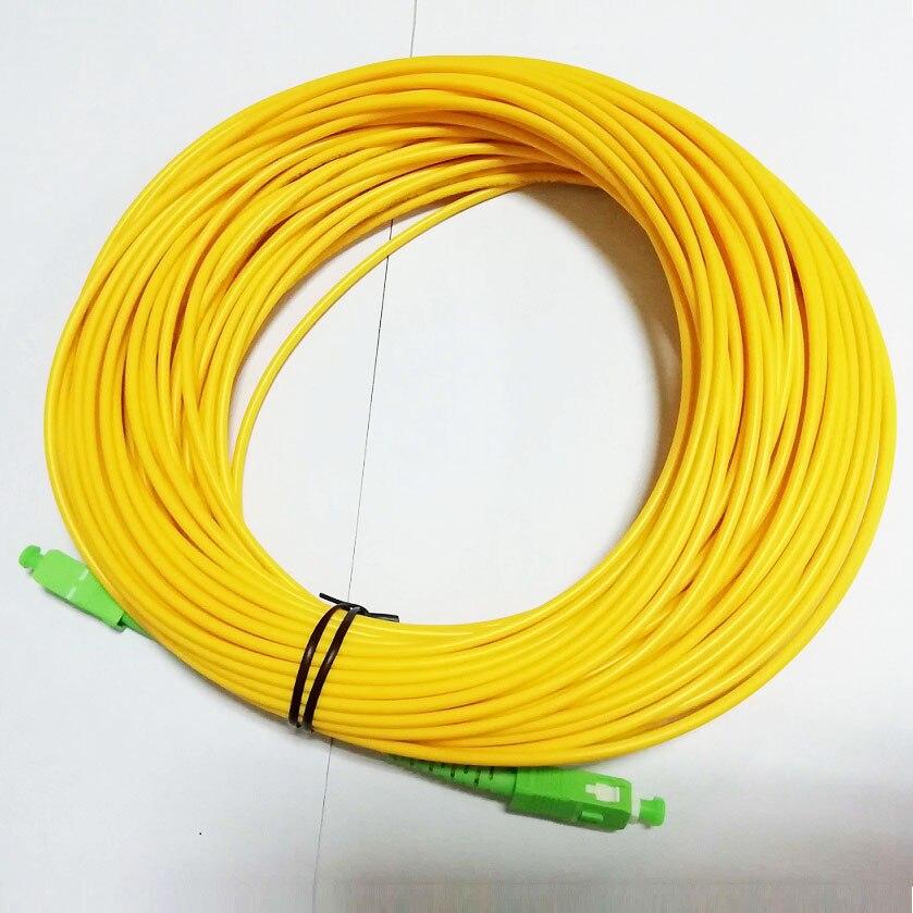 Free Shipping SM SX PVC 3mm 30 Meters SC APC Fiber Optic Jumper Cable SC/APC-SC/APC Fiber Optic Patch Cord