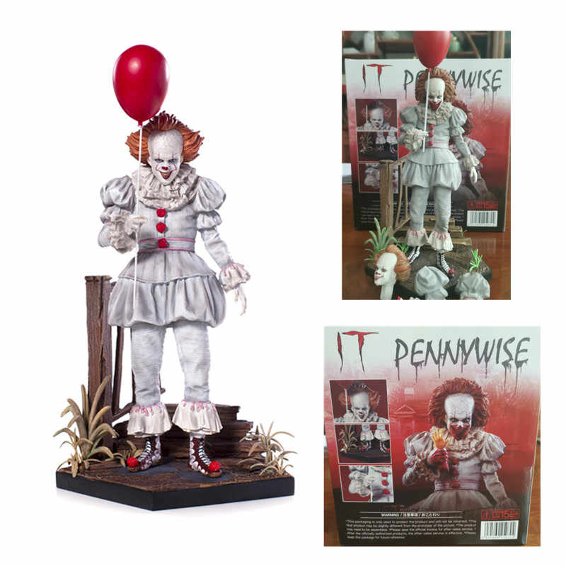 23cm 새로운 스타일 디럭스 에디션 액션 피규어 스티븐 킹의 it pennywise 동상 컬렉션 장난감 선물