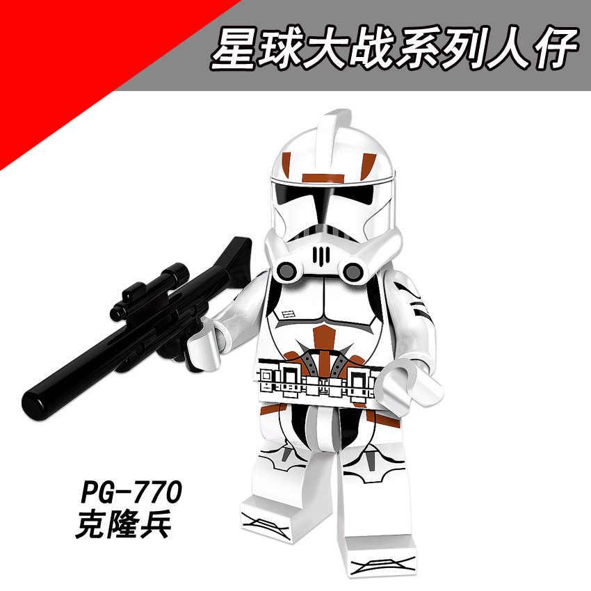 PG8097 compatível Legoing StarWarsing series Filme pessoas Reunidas Clone soldado Blocos de Construção do cérebro jogo do presente das Crianças