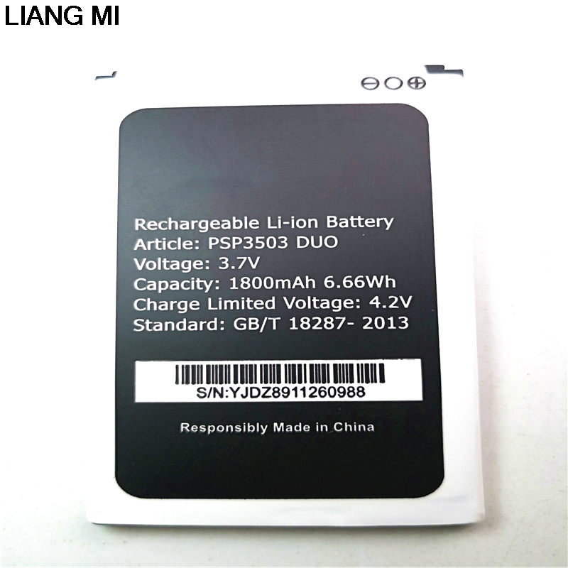 1800mAh <font><b>PSP3503DUO</b></font> Replacement Battery For <font><b>Prestigio</b></font> Wize C3 PSP3503 DUO PSP 3503 Mobile Phone with phone stander for gift image