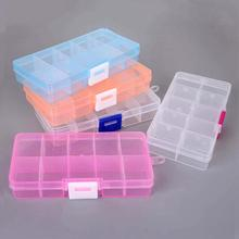 Plastic Jewelry Box Storage Case Craft Earring Ring Jewelry Organizer Beads Diy Jewelry Accessories 10 Slots Packaging cheap SGD5 6 5cm 12 8cm Jewelry Packaging Display 12cm Carrying Cases 2 2cm