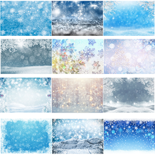 Winter Wonderland Glitter Snowflake Photography Background Photophone Photozone Bokeh Christmas Snow Backdrops for Photo Studio