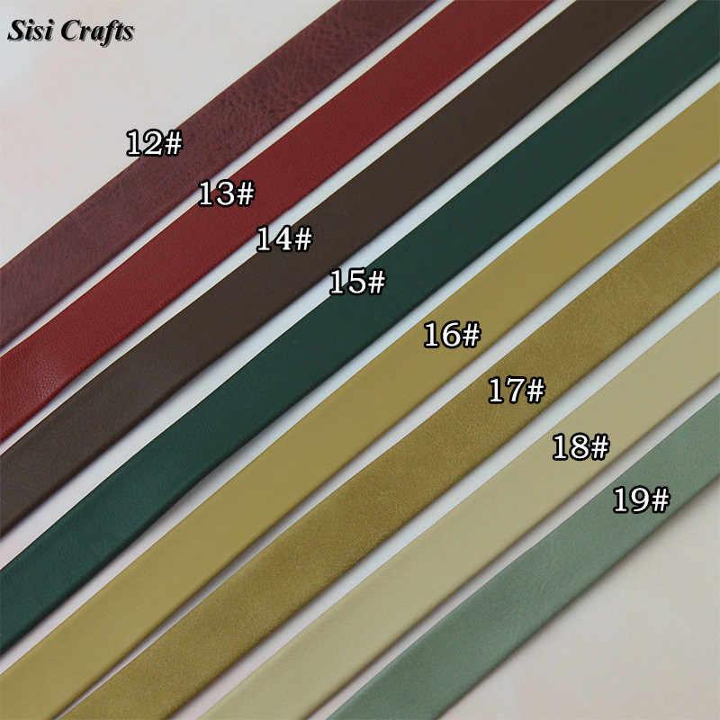 Sisi 工芸品テープの厚さの 1 センチメートル pu レザーリボン 7 ミリメートル 16 ミリメートルフェイク pu フラットコードバイアスレイヤリング diy ハンドバッグハンドルハンドメイド素材