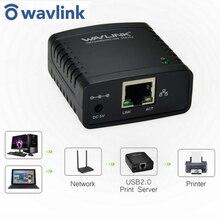 Wavlink USB 2.0 Network LRP Print Server USB Hub 100Mbps Share a LAN Networking Printers Power Adapter for Windows EU/US/UK plug