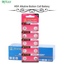 200Pcs=20Card  AG4 377A 377 LR626 SR626SW SR66 LR66 button cell Watch Coin Battery