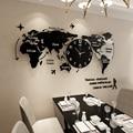 Большие креативные настенные часы для гостиной  настенные часы с картой мира  новинка  простой скандинавский стиль  Reloj Animal Mandelda Fashion GG50gz
