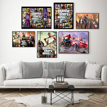 Grand Theft Auto Game Canvas 5 GTA Hot Video Game Art Canvas Painting Poster Wall Home Decor