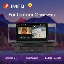 цена на JMCQ T3L For Mitsubishi Lancer 2007-2012 Car Radio Multimedia Video Player Navigation GPS Android 9.0 No 2din 2 din Split Screen