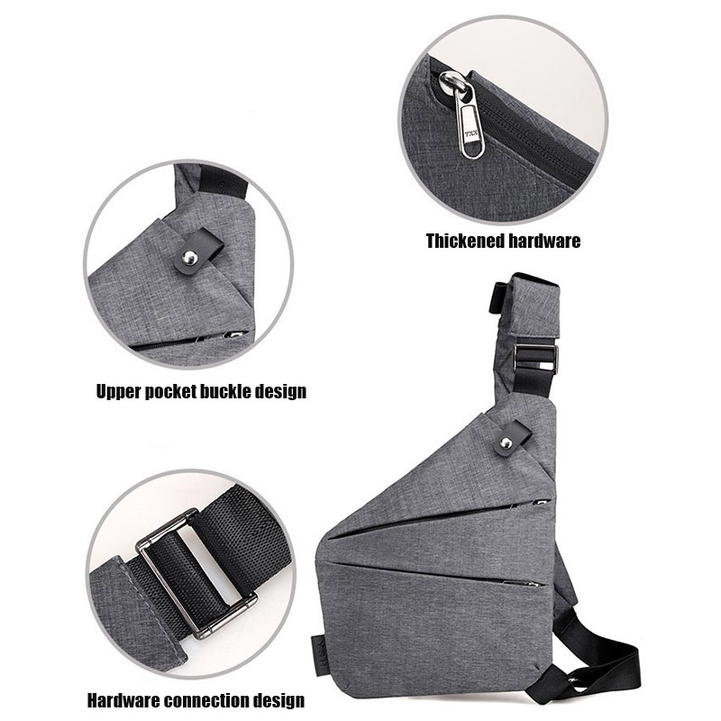 Newly Men's Messenger Bag Oxford Burglar Wearable Bag Multifunctional Solid Durable Outing BF88