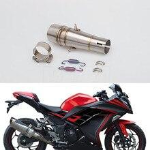 Motorcycle For Kawasaki Ninja 300 Z250 2013 2014 - 2016 Ninja 250R 2013 - 2016 Z 300 Motorcycle Exhaust Muffler Escape Link Pipe