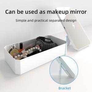 Image 4 - スマート led uv 殺菌ボックスマーク爪 accessoires comestics ツール充電式スマートフォン消毒ボックスクリーニング
