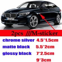 Наклейка на эмблему бокового крыла автомобиля, наклейка для Bmw M3 E90 E60 F10 F30 E46 G20 X1 X3 X4 X5 E70 F20 E39 E92 M, 2 шт.