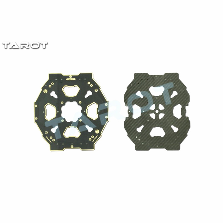 Upper and Lower PCB Carbon Fiber Center Plate for Tarot 650 Sport