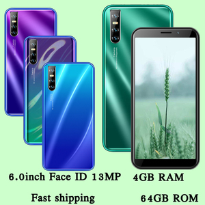 13MP 9C Face id Android Quad Core 4GB RAM 64GB ROM Global Mobile Phones 6.0inch Screen unlocked Smartphones Cellphones celulares