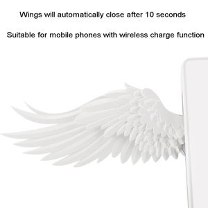 Image 4 - Universal LED Qi Wireless Charge Dock 10W Angel Wings Fast Wireless Charger For Cellphone Pro X XR 8 Plus Mobile Phone
