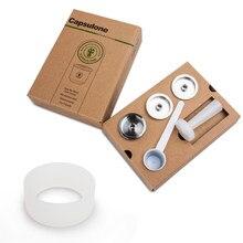 Capsulone/ajuste para illy máquina de café/metal de aço inoxidável recarregável cápsula reusável apto para illy café cápsula pod
