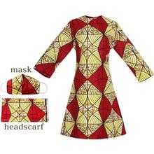 Dashiki Dress African Clothing Headwrap Wedding Plus-Size Women Ladies New MD Cotton