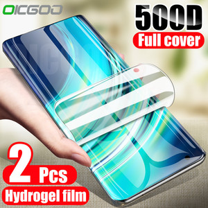 2Pcs Hydrogel Film Screen Protector For Xiaomi Mi 8 9 10 SE A2 A3 Lite 9T CC9E Poco X3 Mi Note 8 10 Ultra Pro Film Not Glass
