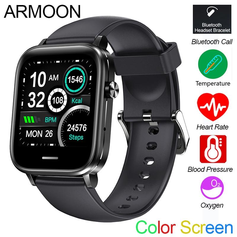 Smart Watch H7 Heart Rate Blood Pressure Oxygen Fitness Tracker Temperature Men Women Sport Braclet Call SMS Alarm Color Screen