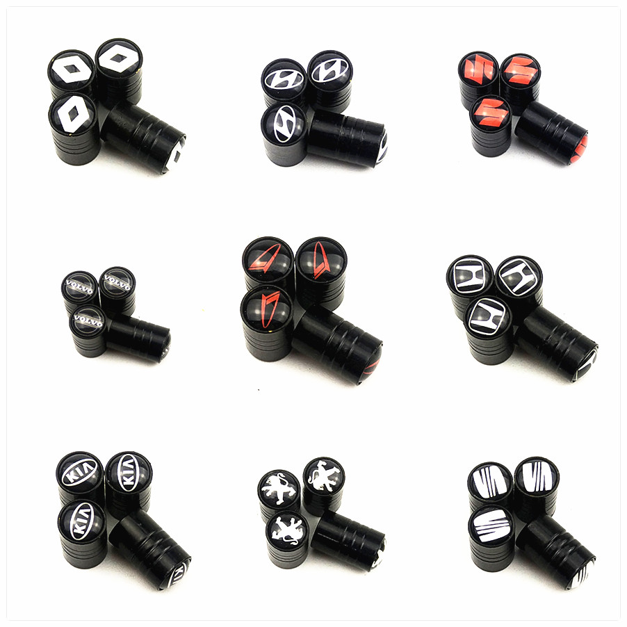 high quality Car Wheel Tires Valves <font><b>caps</b></font> For BMW Mercedes Toyota Ford Audi <font><b>VW</b></font> Nissan golf Skoda Opel Volvo Saab HONDA MAZDA kia image