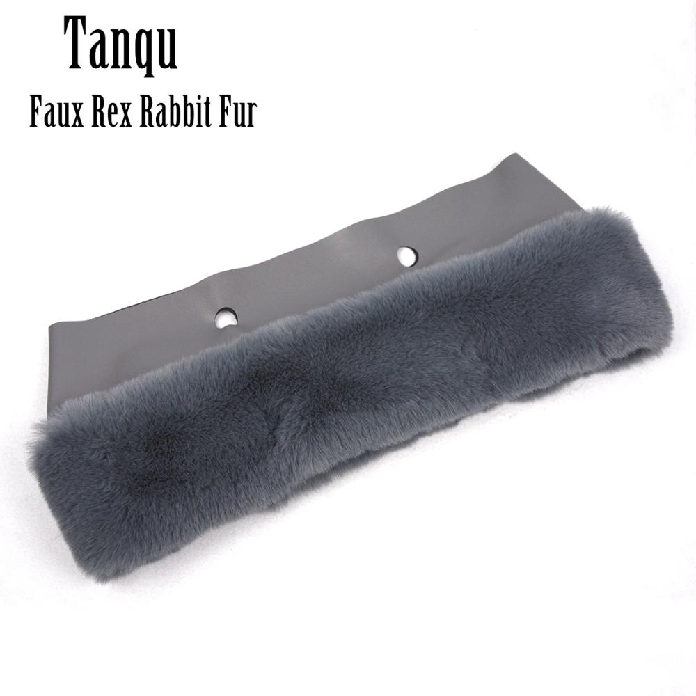 Tanqu New 8 Colors Faux Rex Rabbit Fur Plush Trim For O BAG Thermal Plush Decoration Fit For Classic Big Mini Obag For Winter