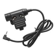 TAC-SKY U94 PTT MOTOROLA TALKABOUT VER  1pin plug earphone accessories PTT U94 military tactical headset walkie-talkie adapter