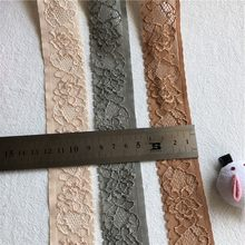 Beau ruban en dentelle noire S1397 de 3.5cm, bande en dentelle de haute qualité, garniture en dentelle brodée pour le cou, bricolage
