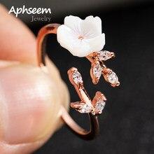Neue Kristall Kupfer Blume zweig blatt Einstellbare Finger Hochzeit Ringe für Frauen Rose Gold Zirkon Offenen Ring Glamour Schmuck Geschenk