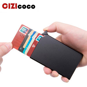 Smart Wallet Card-Holder Bank Business ID Metal RFID Thin Anti-Theft Mini Automatically