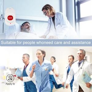 Image 2 - Retekess Caregiver Cercapersone Senza Fili SOS Pulsante di Chiamata Infermiera di Avviso di Chiamata Paziente Sistema di Aiuto per la Casa Paziente Anziano
