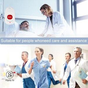 Image 2 - Retekess bakıcı çağrı cihazı kablosuz SOS çağrı düğmesi hemşire çağrı uyarısı hasta yardım sistemi ev yaşlı hasta