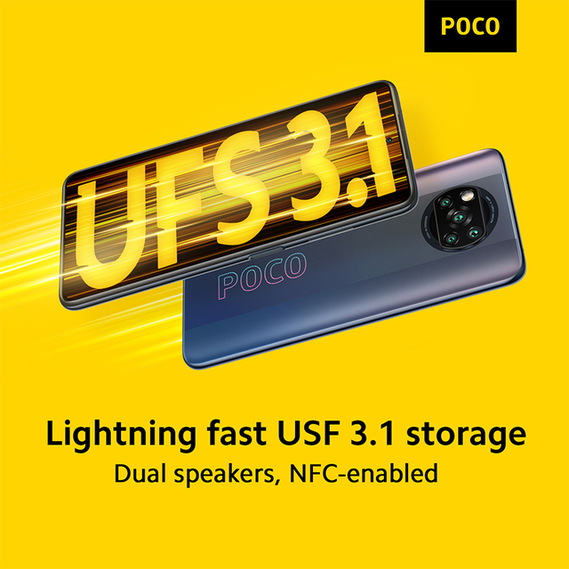 In Stock POCO X3 PRO NFC 128G 256G Global Version Snapdragon 860 Quad Camera 120Hz 33W Fast Charge 5160mAh Battery Smartphone 6