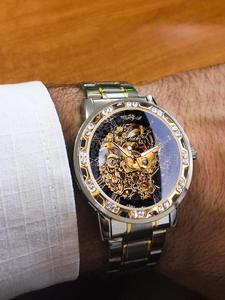 Победитель прозрачный модный алмазный светящийся механизм, королевский дизайн, мужские лучшие брендовые роскошные мужские механические н...