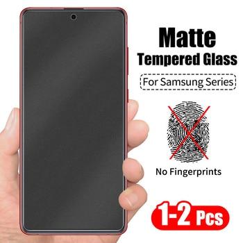 1/2PCs No Fingerprint Matte Tempered Glass for Samsung A72 A32 A12 A52 A40 A50 A70 A31 A51 A71 M31 M51 M71 S20 Screen Protector 1