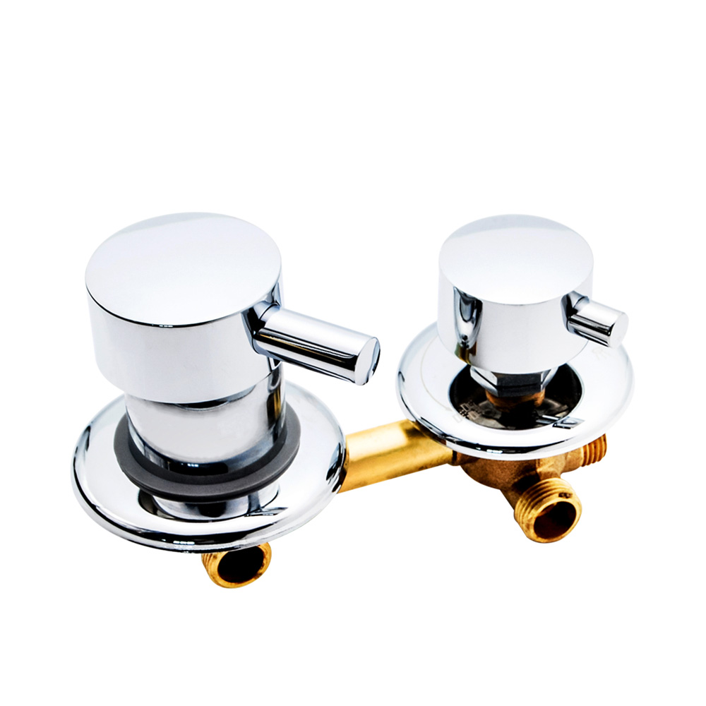 2/3/4/5 Ways Water Outlet Screw Thread Center Distance 10cm 12.5cm Mixing Valve Brass Bathroom Shower Mixer Faucet Tap Cabin