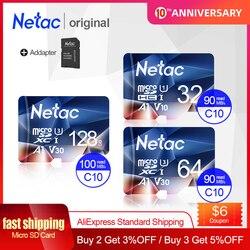 Netac карта памяти Tarjeta Micro SD карта 32 Гб 64 Гб 128 ГБ 256 Гб класс 10 USB флеш-накопитель карта памяти для смартфона адаптер