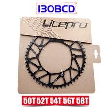 цена на Litepro Super Light 130 BCD 50T 52T 54T 56T 58T Bicycle Chain Wheel Chainring Hollow BMX Folding Bicycle Crankset Bcycle