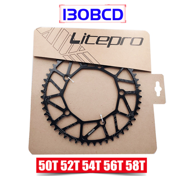 Litepro Super Light 130 BCD 50T 52T 54T 56T 58T Bicycle Chain Wheel Chainring Hollow BMX Folding Bicycle Crankset Bcycle image