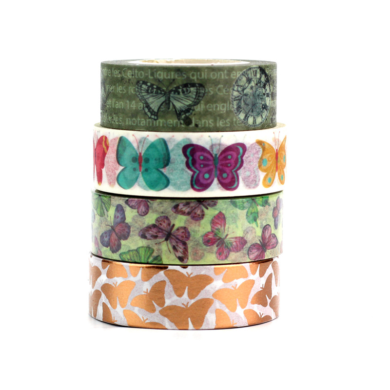 1PC 10M Colorful Butterfly Decorative Washi Tape Set DIY Scrapbooking Masking Tape School Office Supply Escolar Papelaria