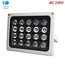 Visão noturna infravermelha ip66 850nm da lâmpada do iluminador da luz da suficiência da câmera da disposição dos leds 20 pces do ir do cctv 220 v para a câmera do cctv