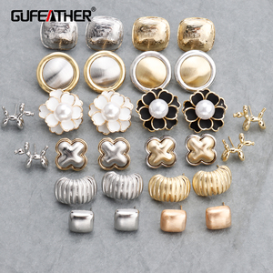 GUFEATHER M704, akcesoria jubilerskie, 18k pozłacane, 0.3 mikronów, 925 srebrna igła, tworzenia biżuterii, handmade, kolczyki diy, 3 par/partia